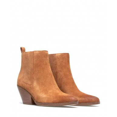 Women's Ankle Boots MICHAEL KORS 40F0SCME5S Sinclair Luggage Suede Brown