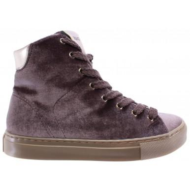 Women's High Top Sneakers Shoes LIU JO Tortora Sneaker Alta Cannella New