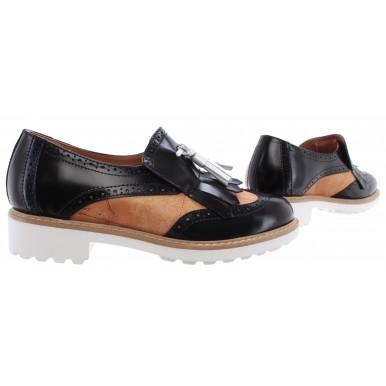 Women's Shoes Sneaker ALVIERO MARTINI 1°Classe Slip On Fringe Black Geo Italy
