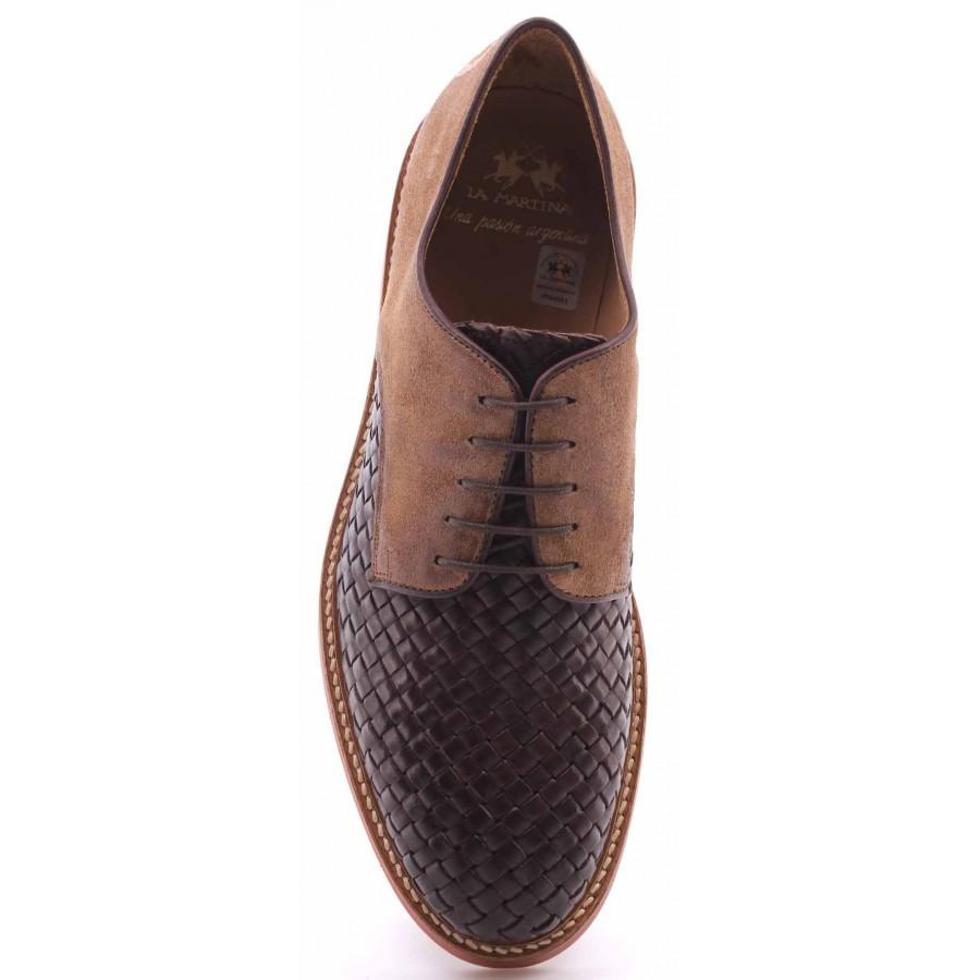 Men's Shoes Classic LA MARTINA L3026207 Calf Delave TMoro Camoscio Castoro Italy