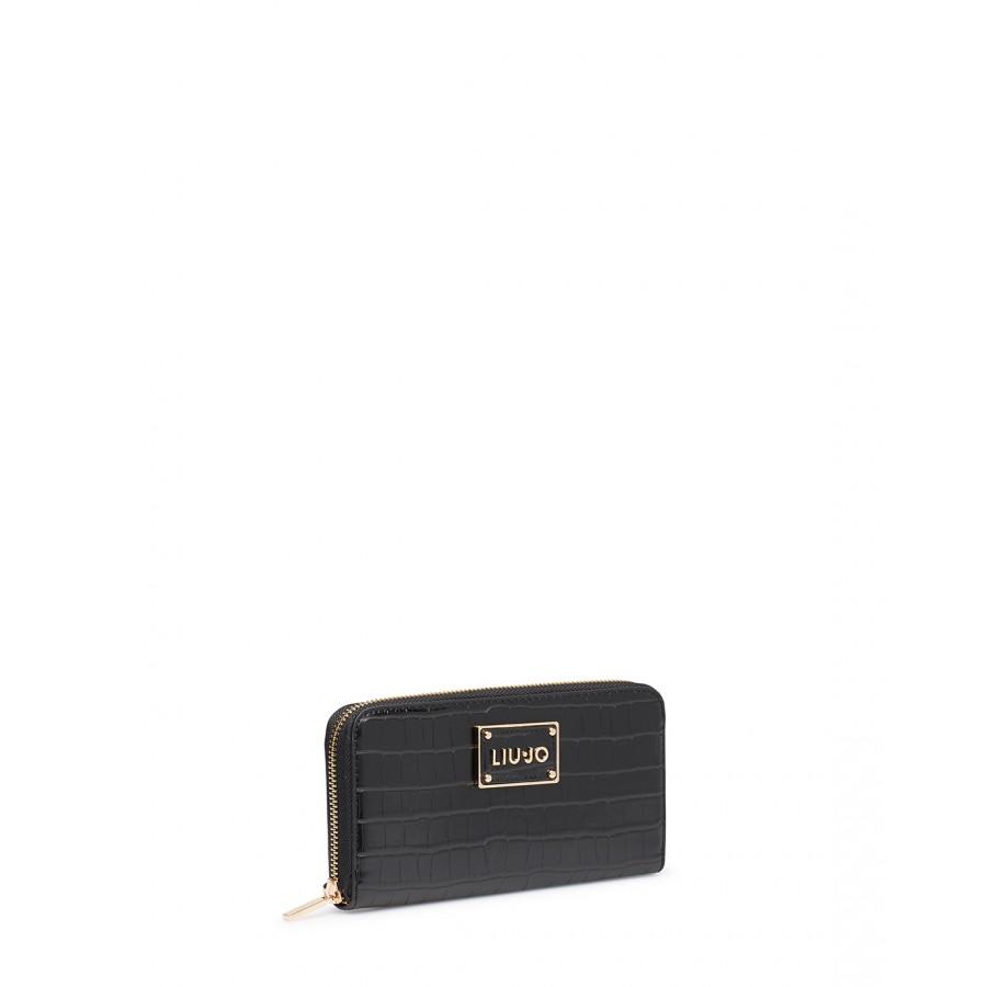 Women's Wallet  LIU JO Milano NF0074 Black Synthetic Leather