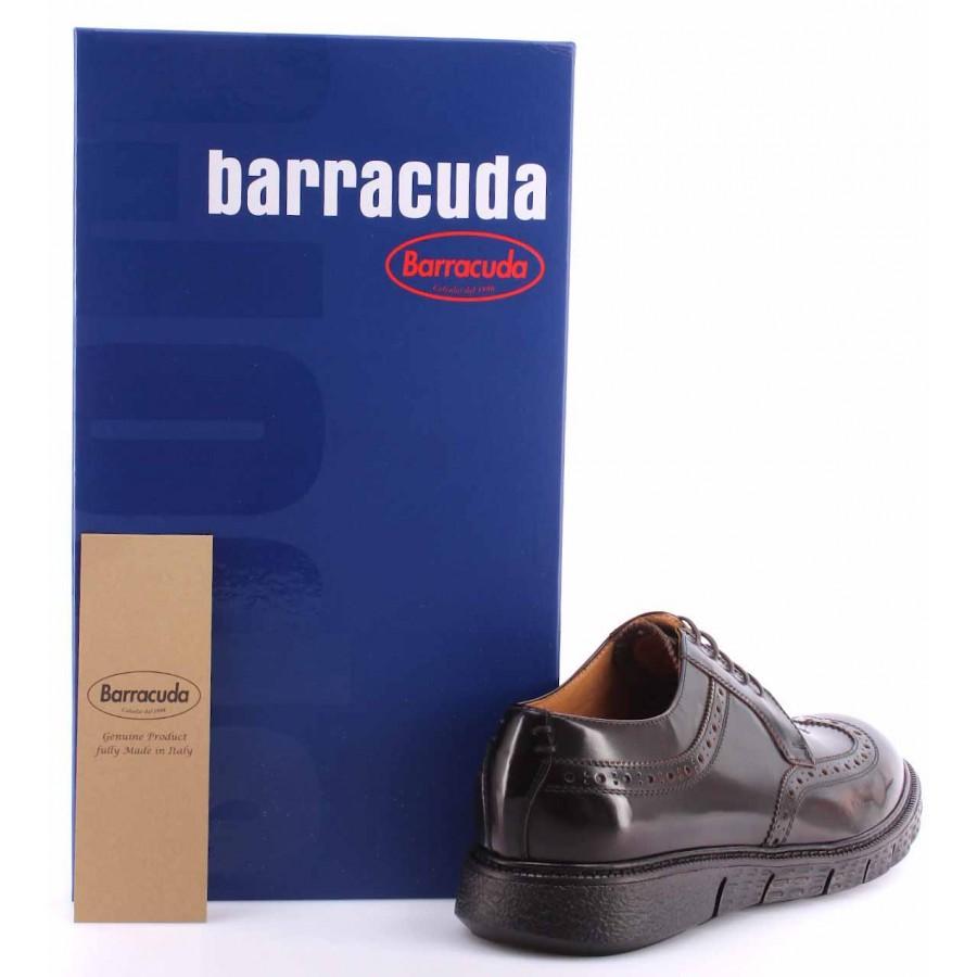 Men's Elegant Shoes BARRACUDA BU2883A Abrasivato TMoro Leather Brown Laces New