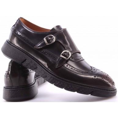 Men's Elegant Shoes BARRACUDA BU2882A Abrasivato TMoro Leather Brown Buckles New
