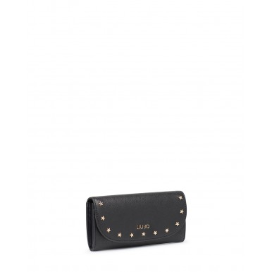 Women's Wallet LIU JO Milano NF0048 Black Synthetic Leather