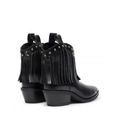 Women's Ankle Boot LOVE MOSCHINO JA21455 Tex Vit Nero Leather Black