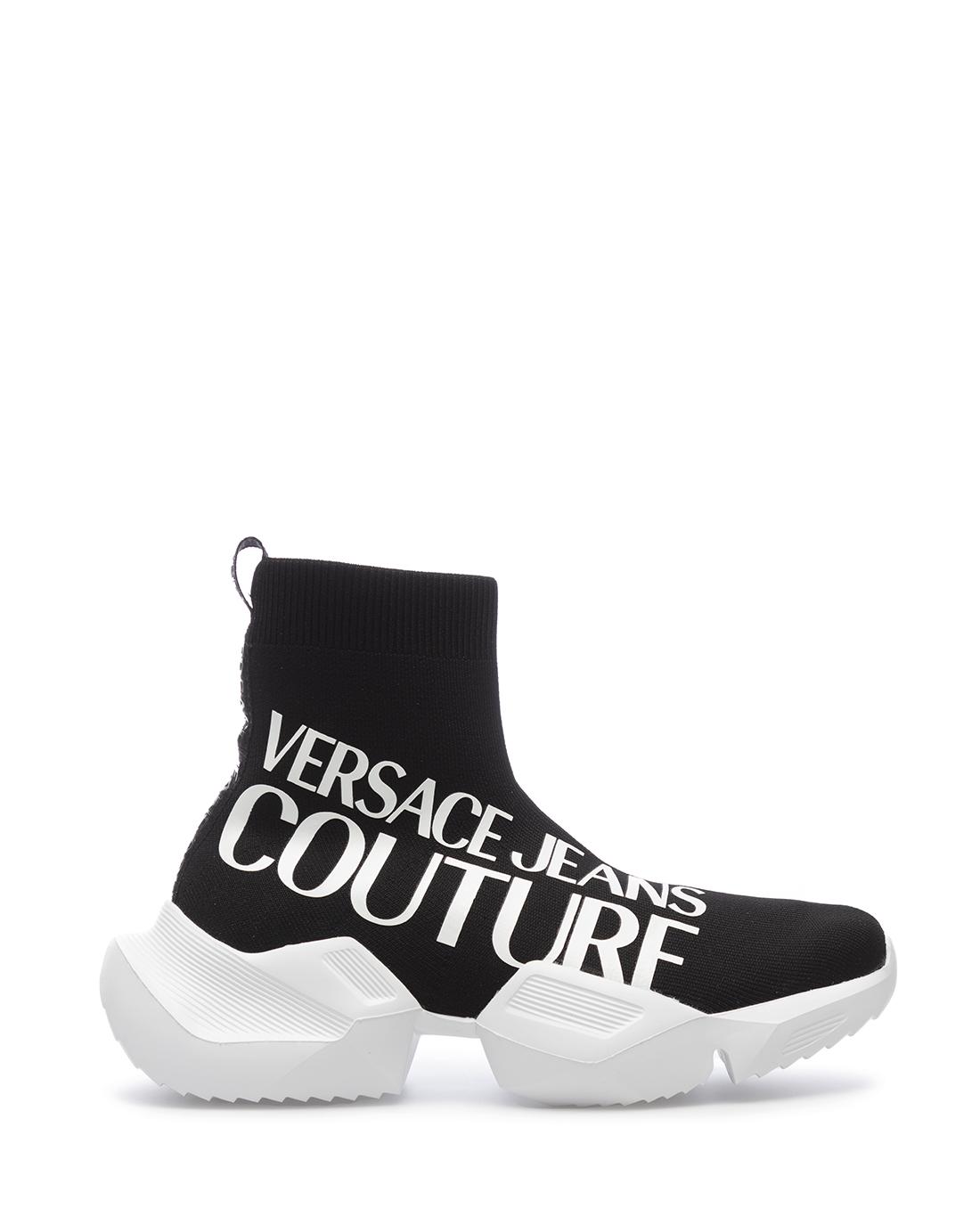 miniature 3 - Sneakers Hommes VERSACE JEANS COUTURE E0YZASU3 71624 M60 Synthétique Noir