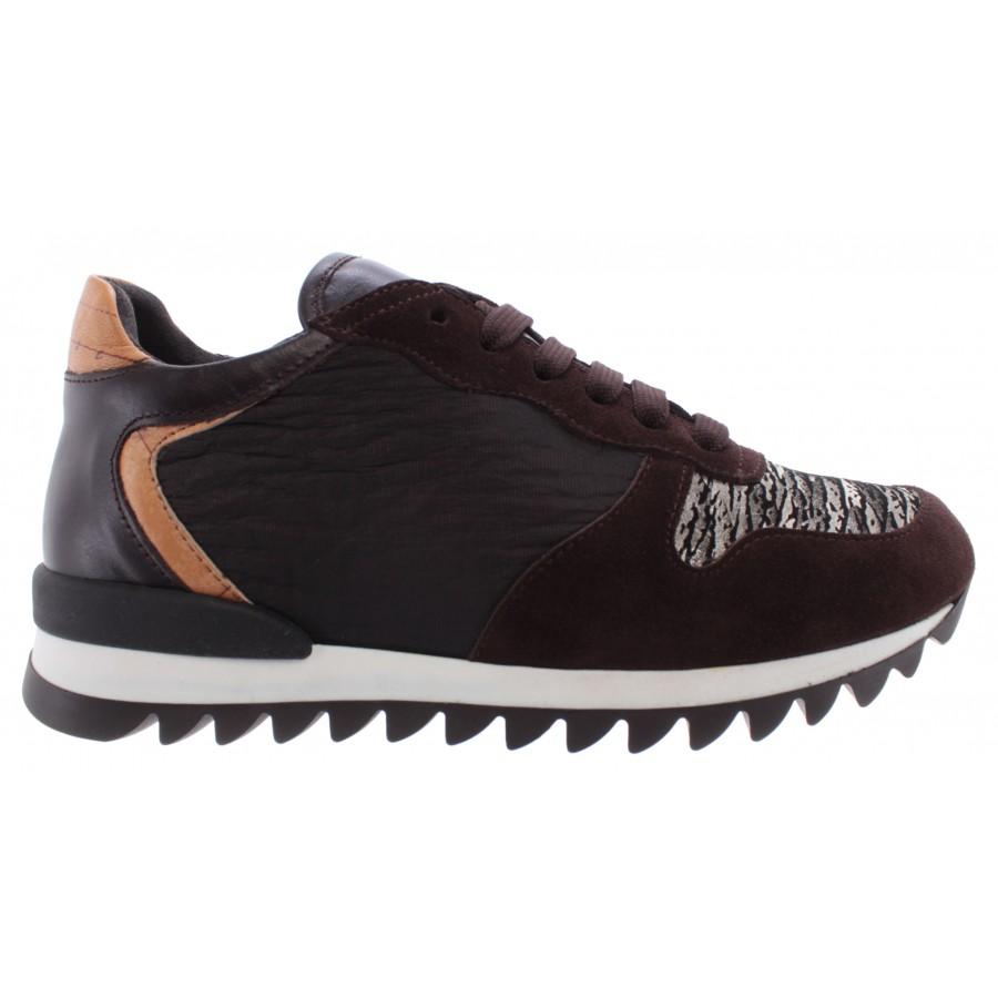 Women's Shoes Sneakers ALVIERO MARTINI 1°Classe ZA4089419 Dark Brown Italy New