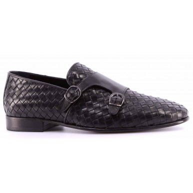 Men's Classic Shoes ROBERTO SERPENTINI 16915 182 Leather Black Business Made IT