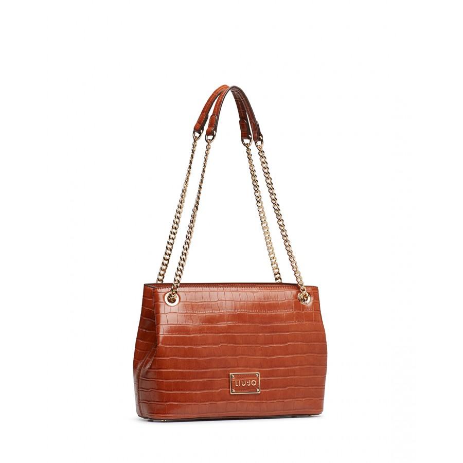 Women's Shoulder BagLIU JO Milano NF0073 Marsala Red Leather Synthetic