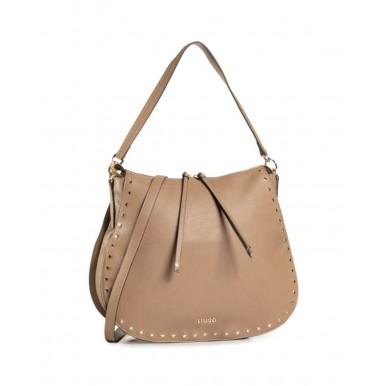 Women's Shoulder Bag  LIU JO Milano NF0043 Indian Tan Beige Leather Synthetic