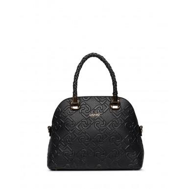 Women's Hand Shoulder Bag LIU JO Milano NF0097 Black Leather Synthetic