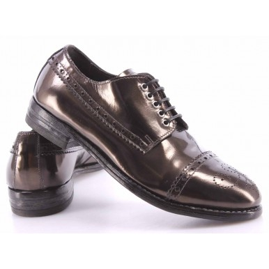 Women's Shoes MOMA 83501-8E Specchio Antracite Top Vintage Handmade In Italy New