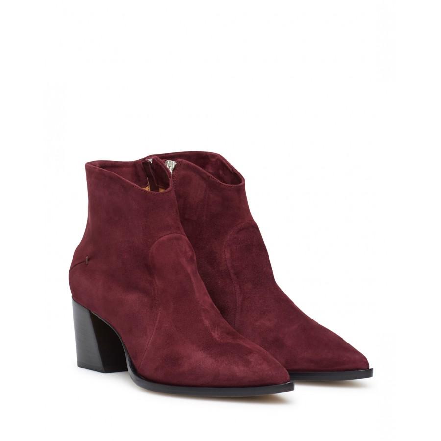Women's Ankle Boots Hells POMME D'OR 5300B Bordeaux Suede