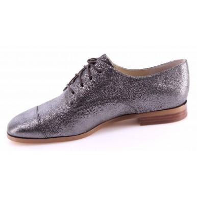 Women's Shoe MICHAEL KORS Pierce Lace Up Gunmetal Sparkle Metallic New
