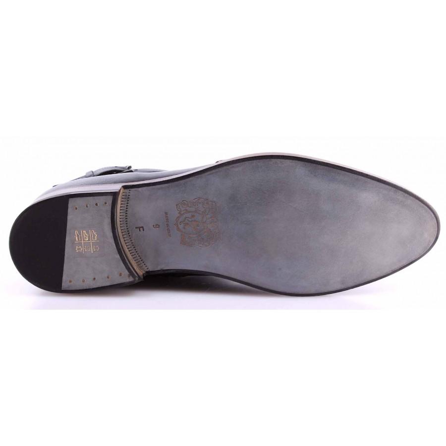 Men's Ankle Boots Shoes BRUNO MAGLI Midway Tronchetto Vitello Morgan Ruhof Black