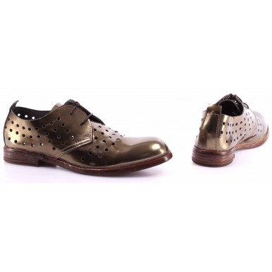 Women's Shoes MOMA 33505-WA Specchio Oro Gold Leather Made In Italy Vintage New