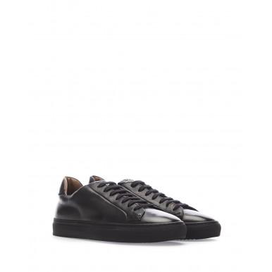 Men's Sneakers Shoes DOUCAL'S Triumph Nero Leather Black