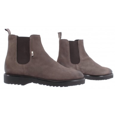 Men's Shoes Ankle Boot ALBERTO GUARDIANI Drive Citizen Suede Gray