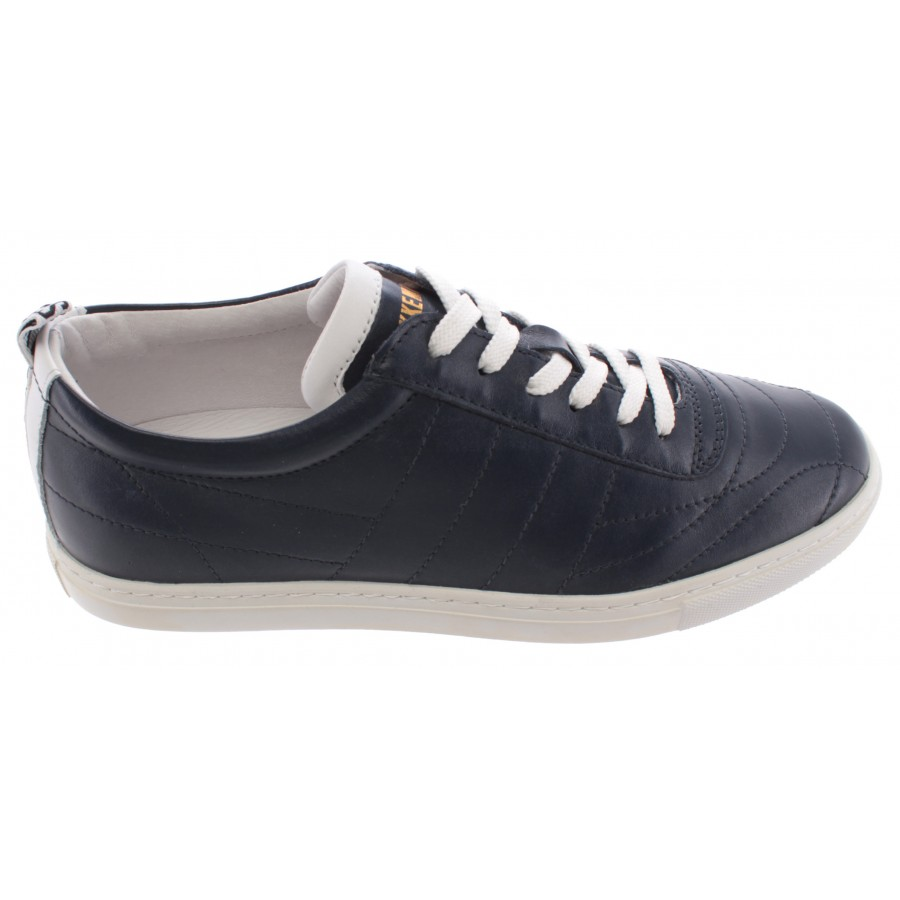 Men's Shoes Sneakers BIKKEMBERGS 107772 Soccer Capsule Leather Blue New