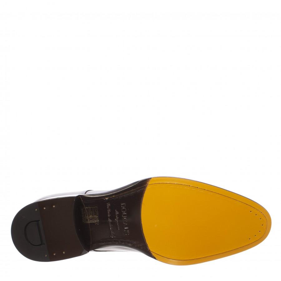 Men's Elegant Shoes DOUCAL'S Basquiat Ebano Leather Brown