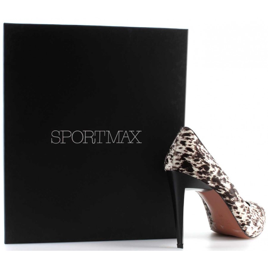 Women's Shoes Decolletè Heels SPORT MAX By Max Mara Real Pony Made In Italy New