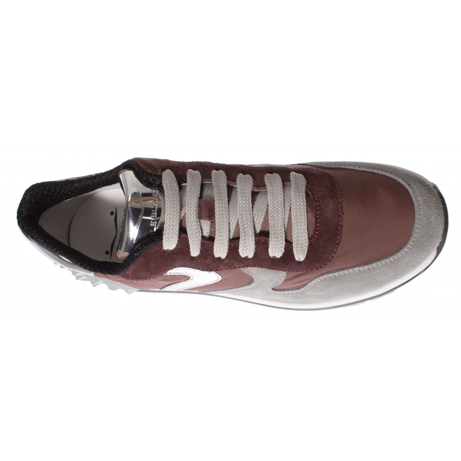 Women's Sneakers VOILE BLANCHE Maran Gray Pink Silver Suede Nylon