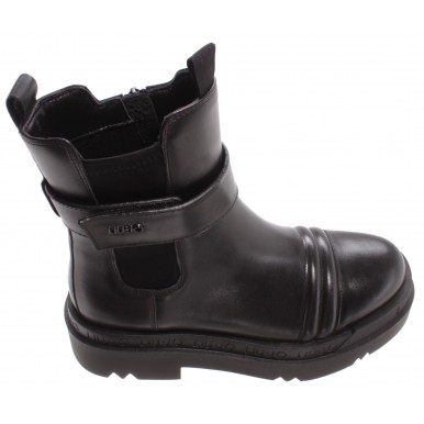 Women's Ankle Boots LIU JO Milano Love1 Black Leather Synthetic