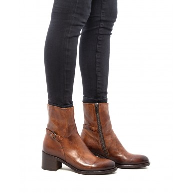 Women's Ankle Boots PANTANETTI 13773E Danill Coloniale Leather Brown