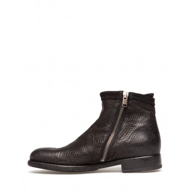 Women's Ankle Boots PANTANETTI 13763D Azteco Nero Leather Black