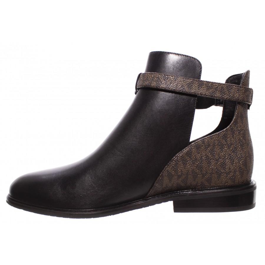 Women's Ankle Boots MICHAEL KORS Lawson 40T0LAFE7L Blk Brown Leather