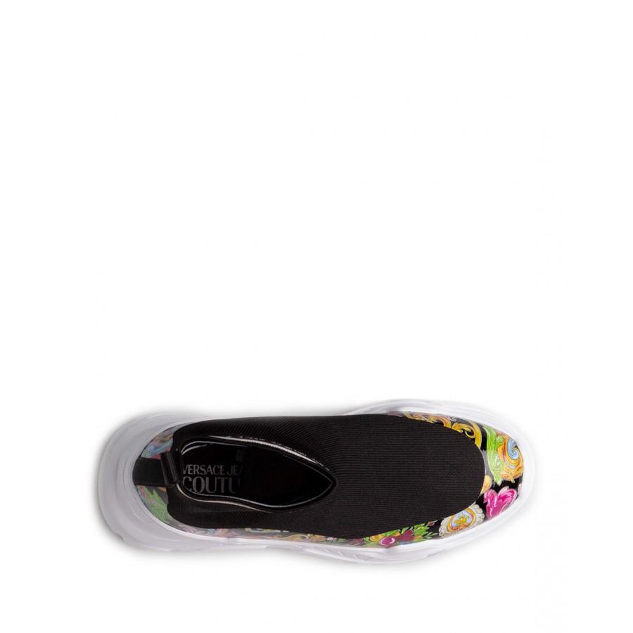 Sneakers Femmes VERSACE JEANS COUTURE E0VWASC5 71933 M09 Synthétique Noir