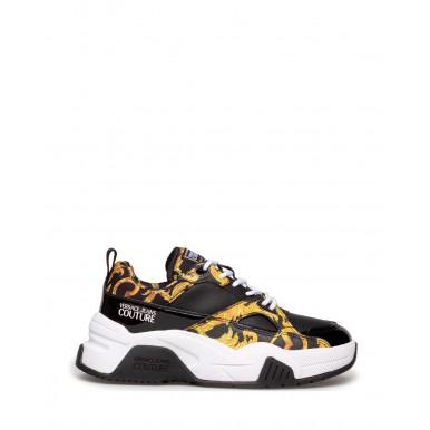 Sneakers Femmes VERSACE JEANS COUTURE E0VWASF3 71953 M27 Cuir Noir