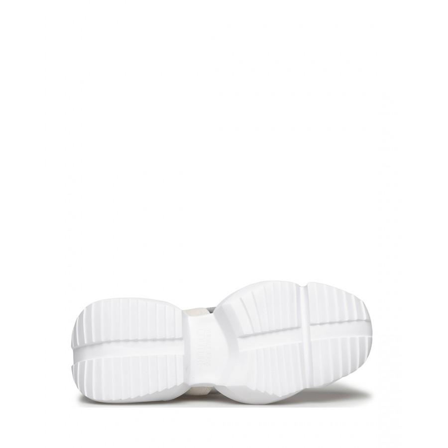 Sneakers Femmes VERSACE JEANS COUTURE E0VWASU3 71929 003 Cuir Blanc