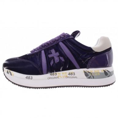 Women's Sneakers PREMIATA Conny 4815 Leather Nylon Violet
