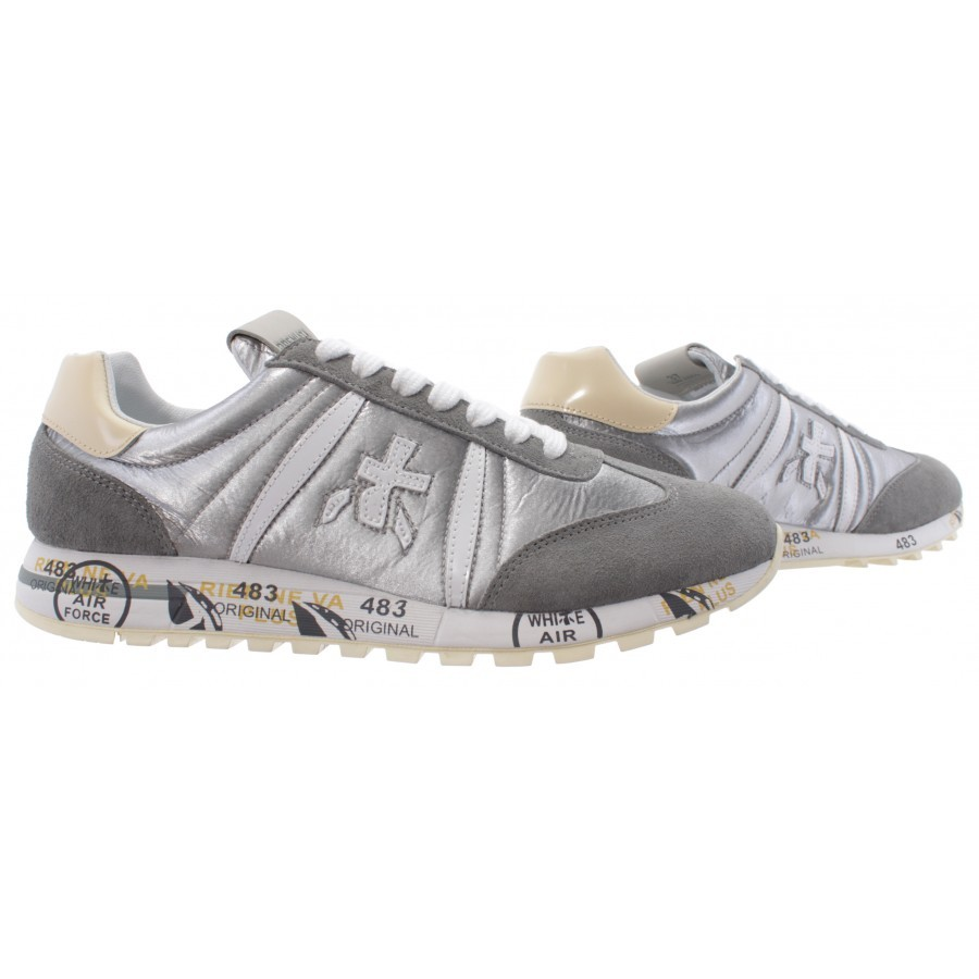 Details about  /Women/'s Sneakers PREMIATA Lucyd 4803 Leather Nylon Silver