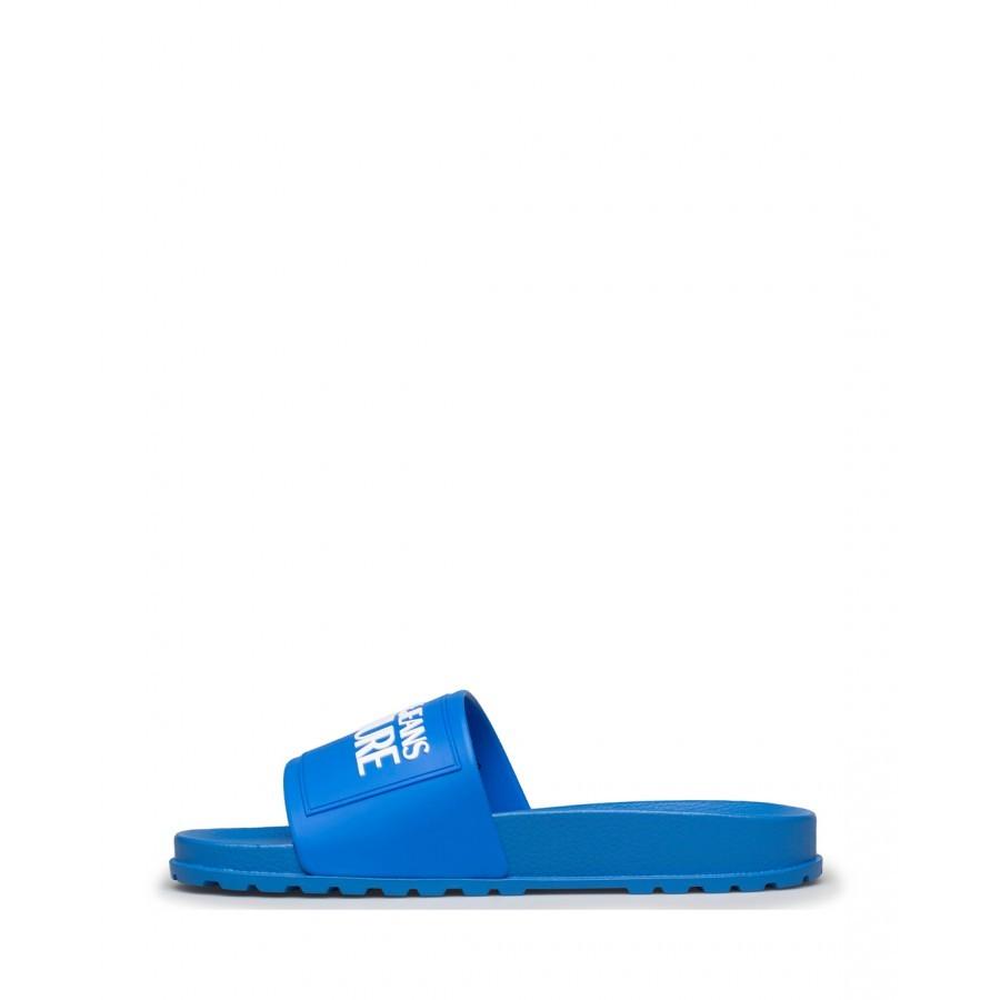Men's Sandals Slippers VERSACE JEANS COUTURE E0YWASQ2 71353 202 Fabric Blue