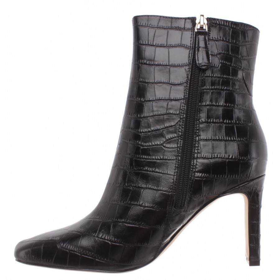 Women's Ankle Boots Heels GUESS FL7BV2LEP10 Black Leather Black