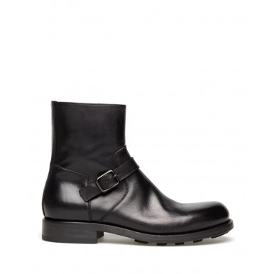 Men's Ankle Boot Shoes PANTANETTI 13953C Boxed Nero Leather Black