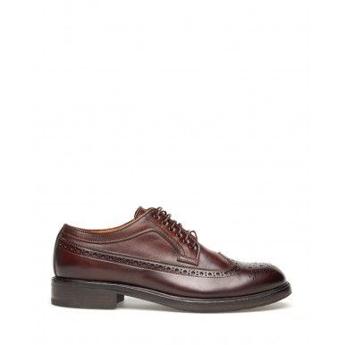 Men's Shoes PANTANETTI 13930D Commander Jewel Leather Brown