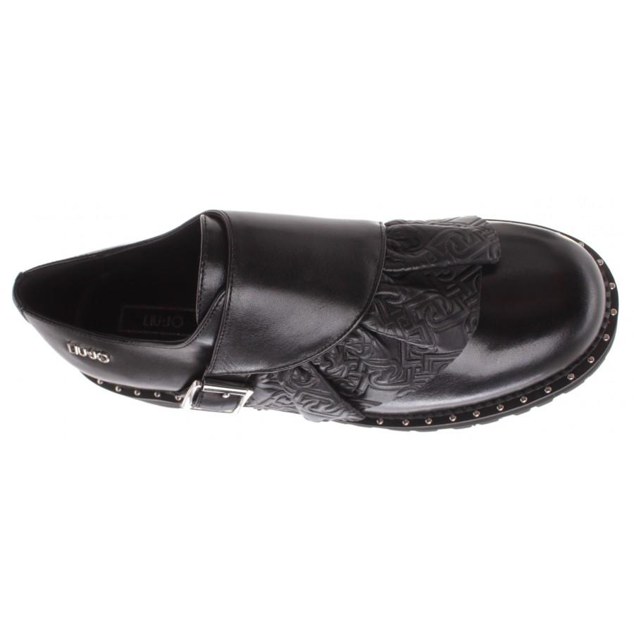 Women's Shoes LIU JO Milano Pink 155 Black Leather