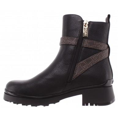 Women's Ankle Boots LIU JO Milano New Nancy 35 Black Leather