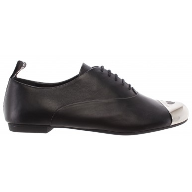 Women's Flat Shoes Loafers LOVE MOSCHINO JA11081 Vitello Leather Black
