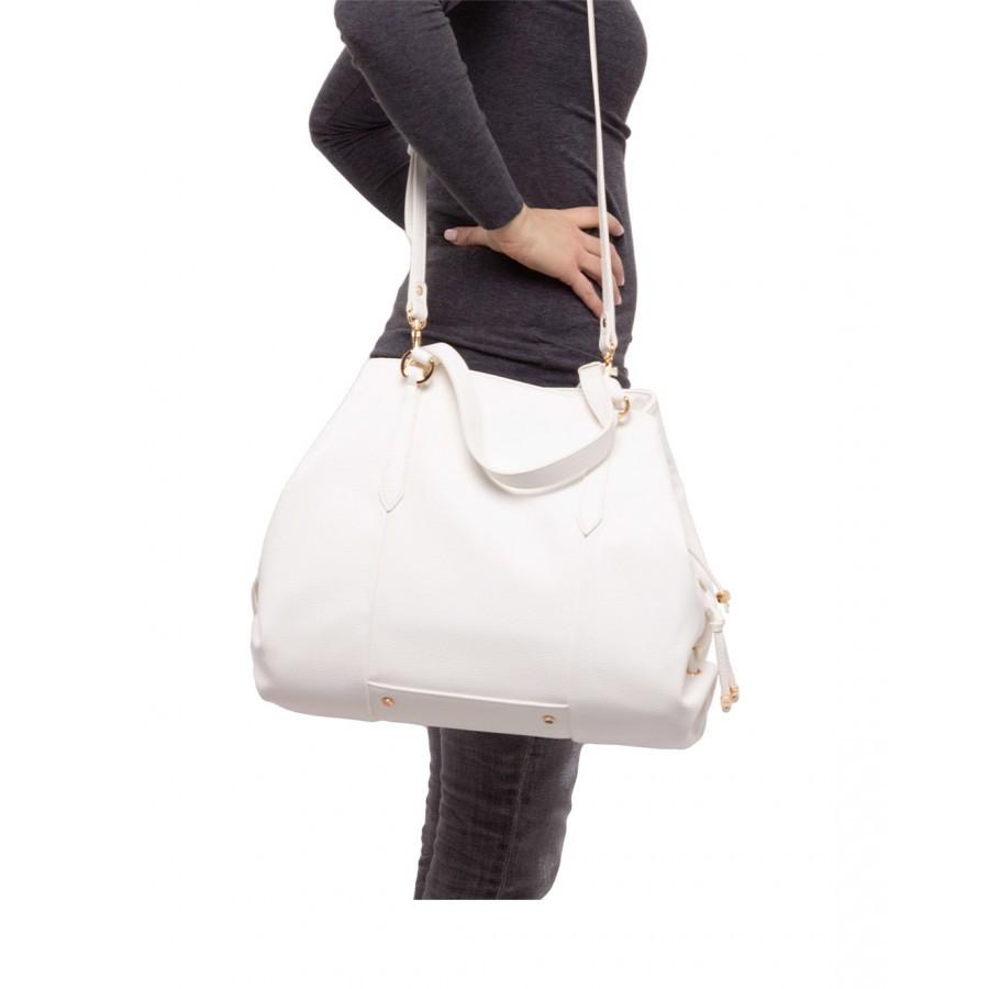 Women's Hand Shoulder Bag LIU JO Milano AA1245 E0027 Off White Synthetic