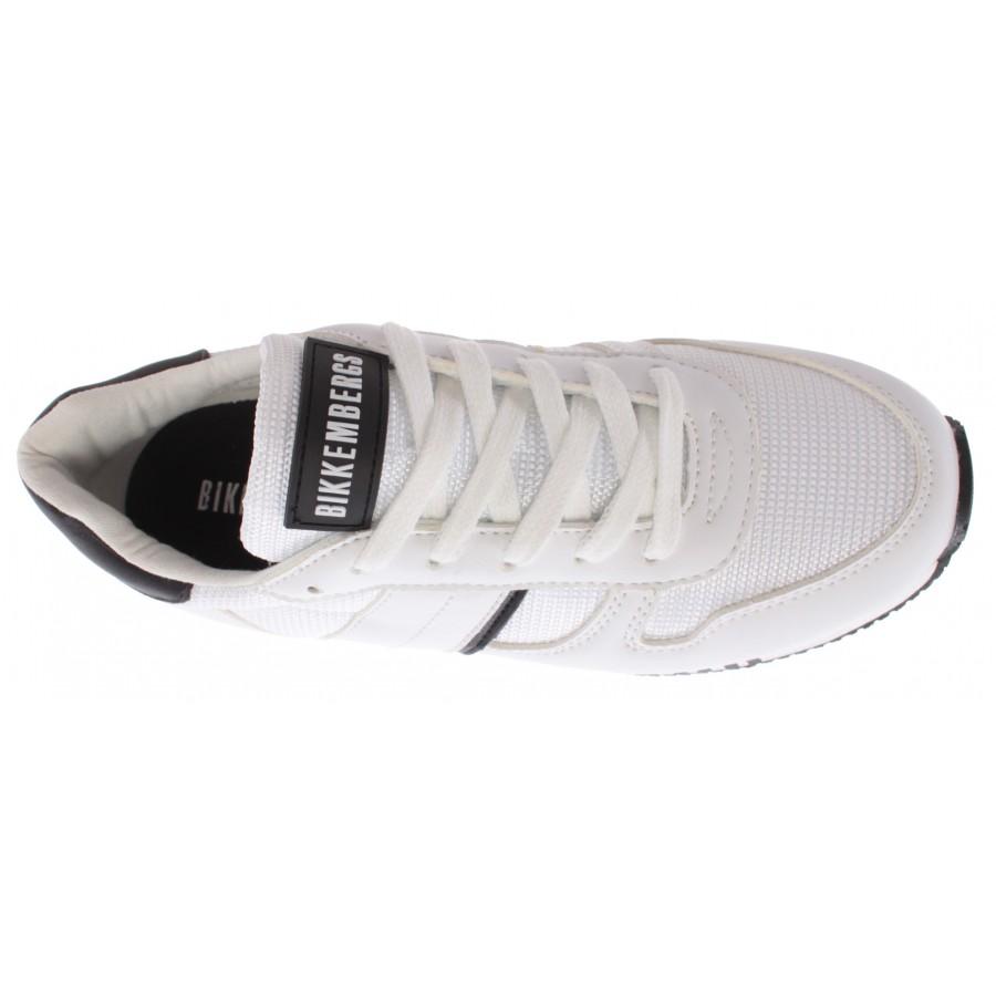 Women's Girls Sneakers BIKKEMBERGS Junior Leather White