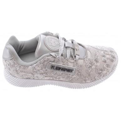 Women's Sneakers PLEIN SPORT Runner Joice Silver New