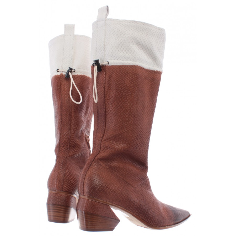 Women's Boots iXOS Bukowski Saturn Leather Brown