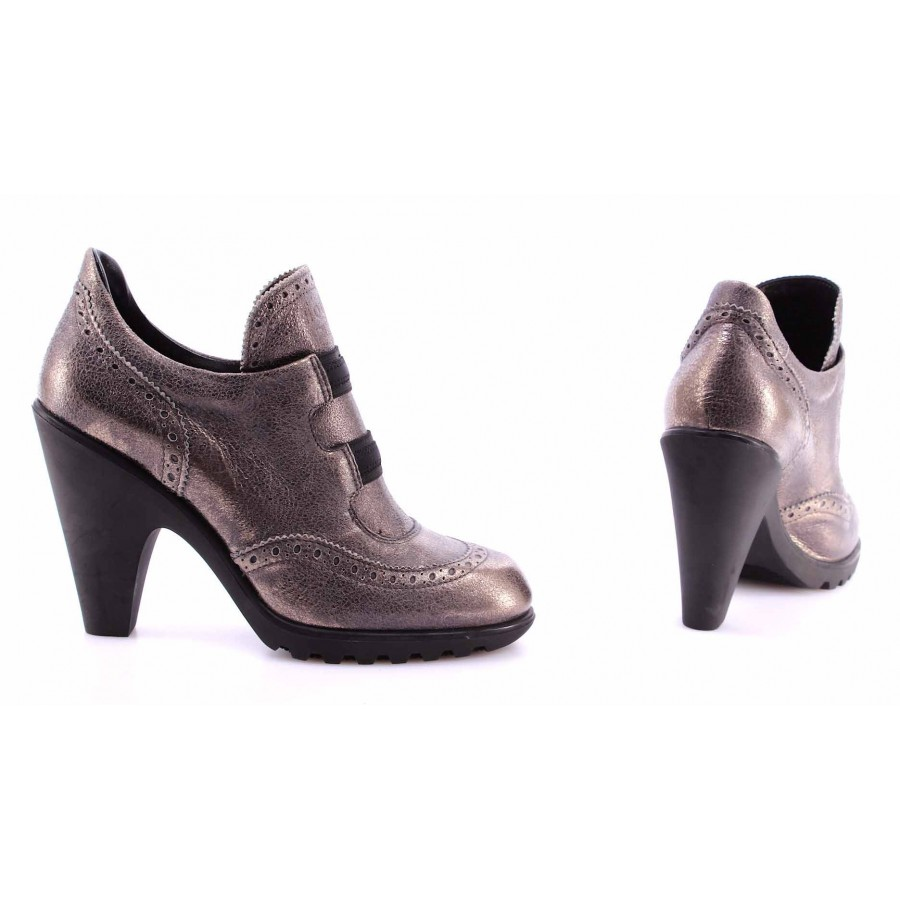 Women's Shoes Brogues Heels HOGAN BY KARL LAGERFELD Leather Made Italy Luxury