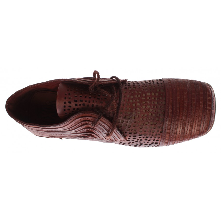 Women's Shoes iXOS Pasolini Real Leather Brown Made In Italy