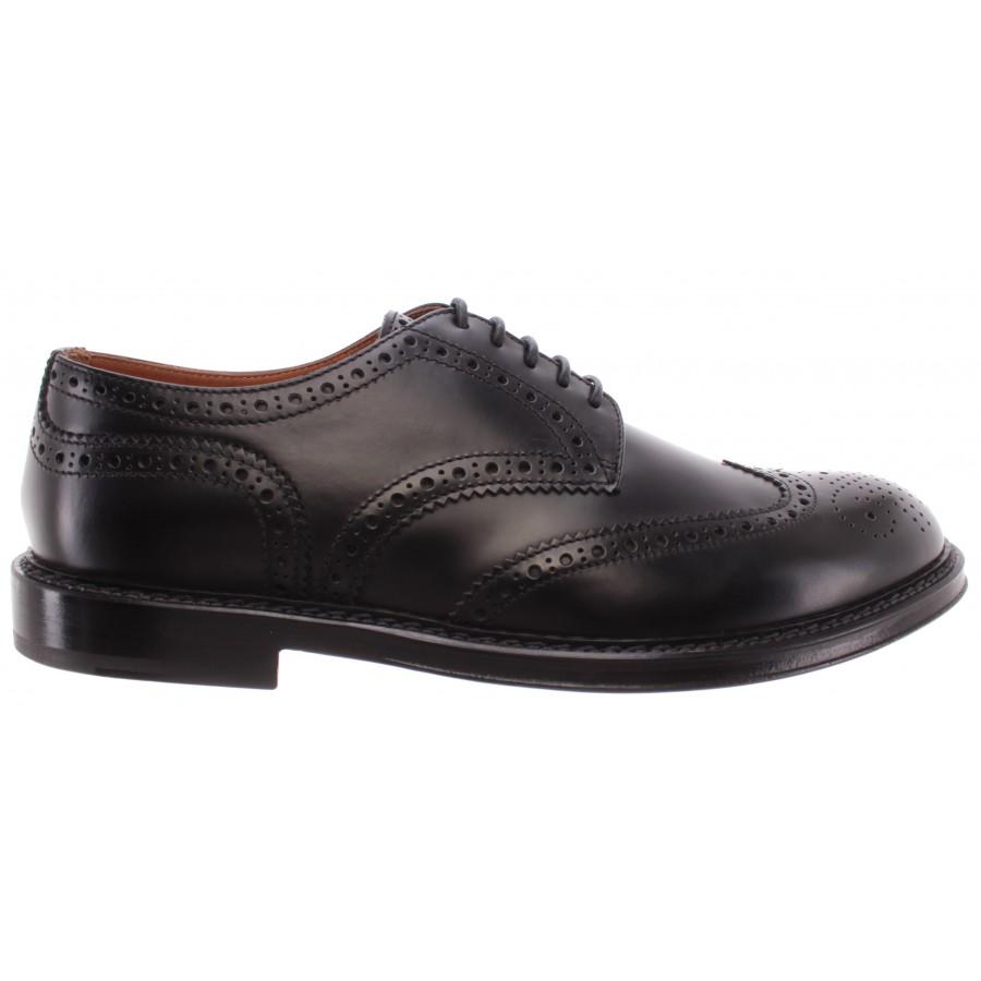 Men's Elegant Shoes DOUCAL'S Horse Nero Leather Black