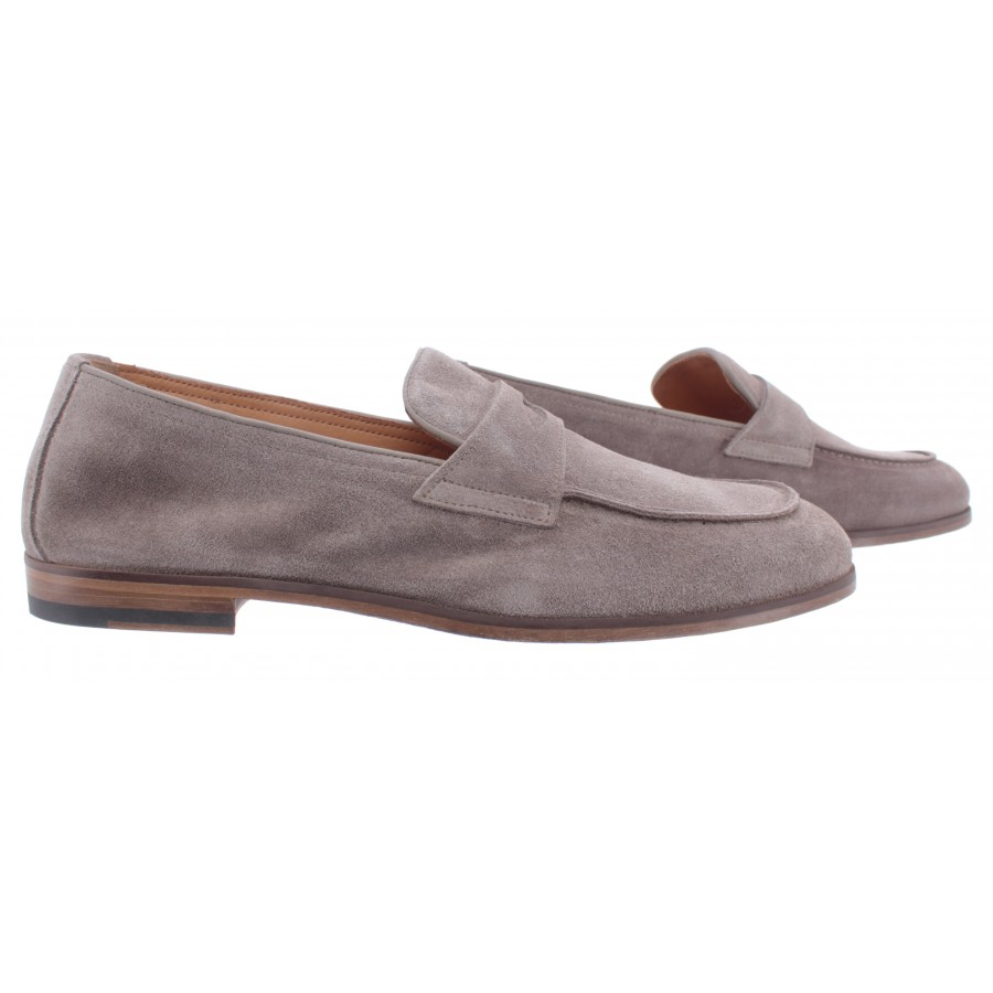 Men's Loafers DOUCAL'S Wash Taupe Suede Gray